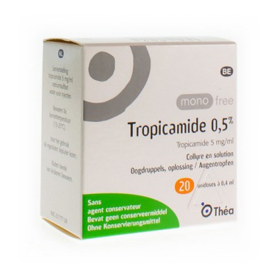 MONOFREE TROPICAMIDE 0,5% 20X0,4ML