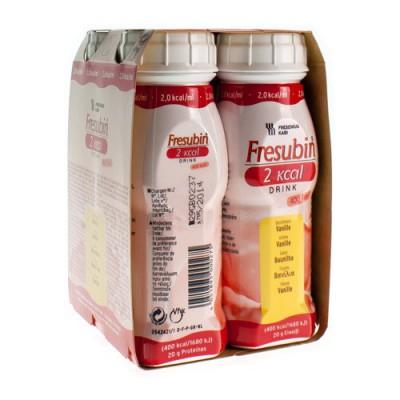 FRESUBIN 2KCAL DRINK VANILLE FL 4X200ML