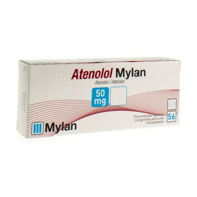 ATENOLOL MYLAN TABL 56X 50 MG