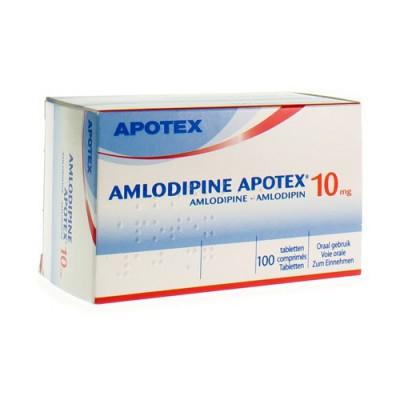 AMLODIPINE APOTEX 10 MG TABL 100
