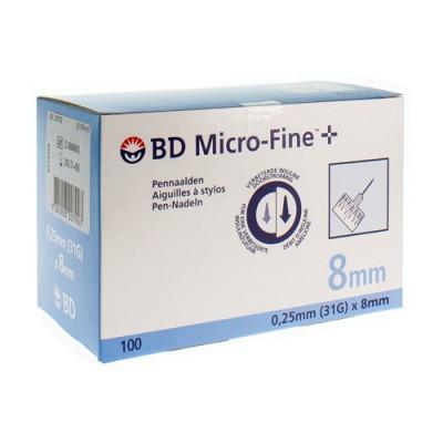 BD MICROFINE+ PENNAALD TW 8,0MM 31G 100 320792