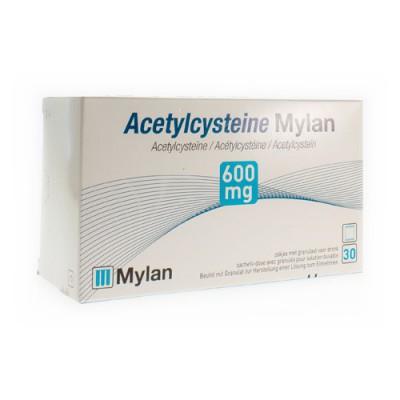 ACETYLCYSTEINE MYLAN SACH 30 X 600 MG