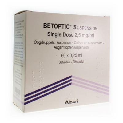 BETOPTIC SUSP SINGLE DOSE 60X0,25ML