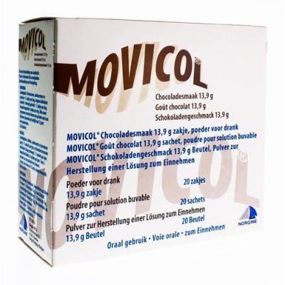 MOVICOL CHOCOLADE SMAAK ZAKJES 20 X 13,7 G