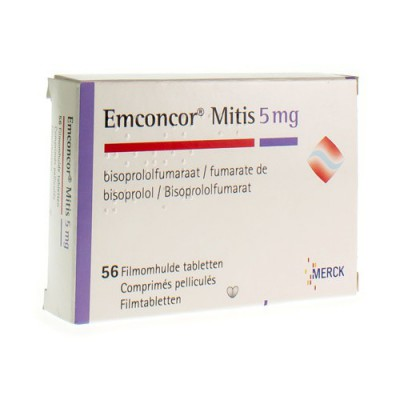 EMCONCOR MITIS 5 DRAG 56X5MG