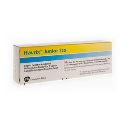 HAVRIX JUNIOR 720 SER INJ IM 0,5ML