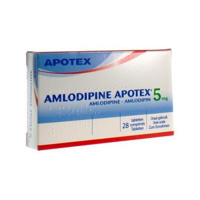AMLODIPINE APOTEX 5 MG TABL 28