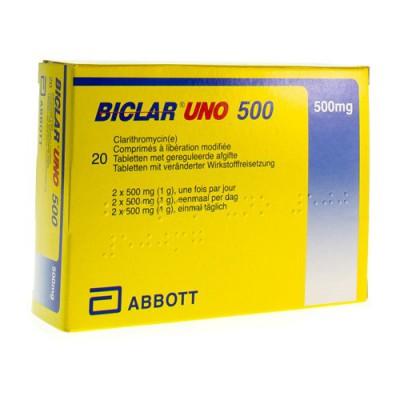 BICLAR UNO COMP 20 X 500 MG