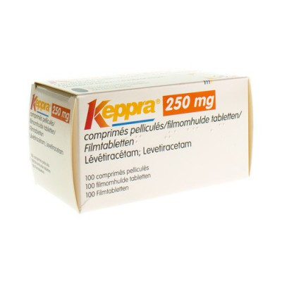 KEPPRA 250MG COMP PELL 100X 250MG