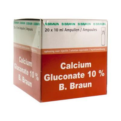 CALCIUM GLUCONAAT 10 % AMP 20X10ML