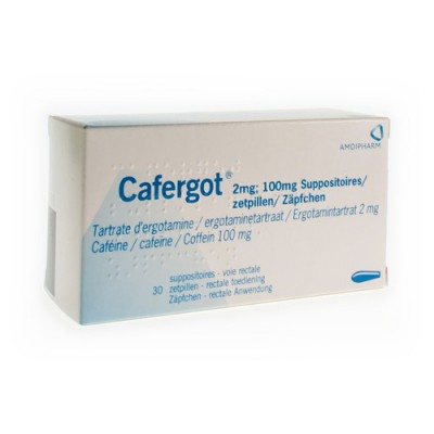 CAFERGOT SUPP 30X2MG