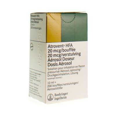ATROVENT HFA AEROSOL DOSEUR 10 ML 200 X 0,002MG