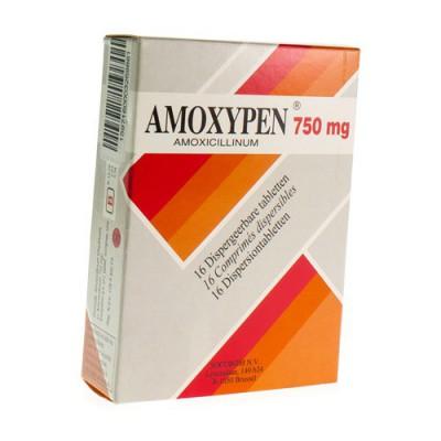 AMOXYPEN COMP DISP 16 X 750 MG