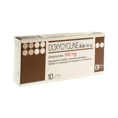 DOXYCYCLINE KELA TABL 10 X 100 MG