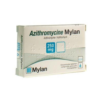 AZITHROMYCINE 250 MG MYLAN COMP PELL 6 X 250MG KDT