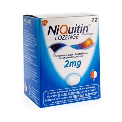 NIQUITIN LOZENGE ZUIGTABLETTEN 72 X 2 MG