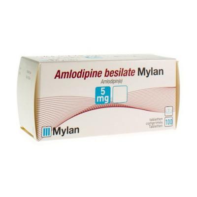 AMLODIPINE BESILATE MYLAN COMP 100 X 5 MG