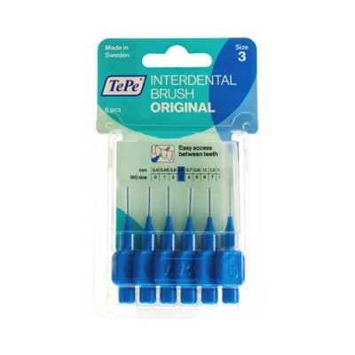 TEPE INTERDENTAL BRUSH 0,60MM BLUE 6