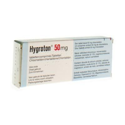 HYGROTON 50 COMP 30 X 50 MG