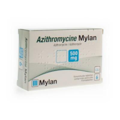 AZITHROMYCINE 500 MG MYLAN COMP PELL 6 X 500MG KDT