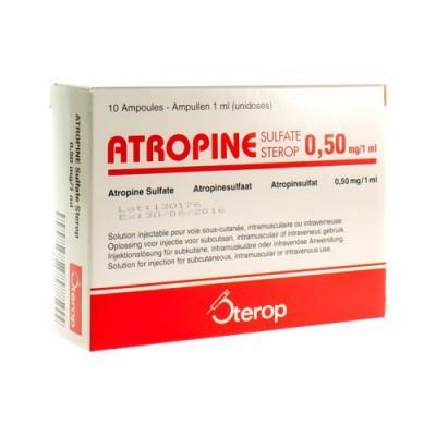 ATROPINE SULF AMP 10 X 1 X 0,50MG/1ML UD
