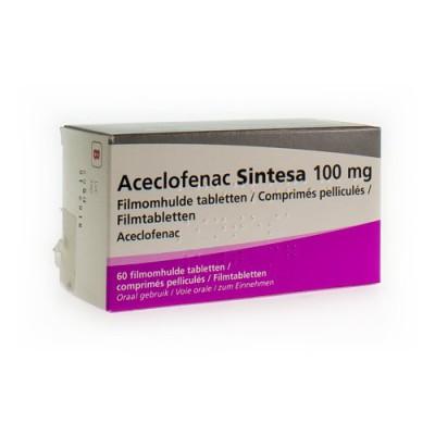 ACECLOFENAC SINTESA 100MG COMP 60 X 100 MG