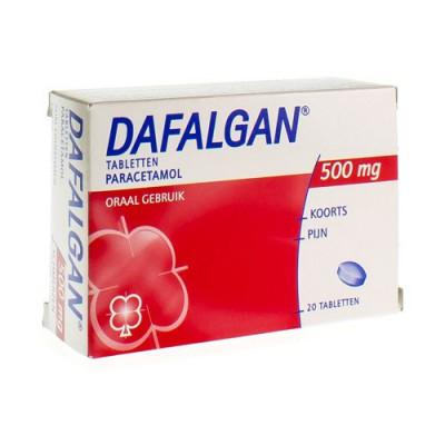 DAFALGAN 500 MG DROOG COMP 20