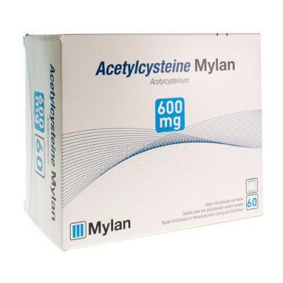 ACETYLCYSTEINE MYLAN SACH 60 X 600 MG
