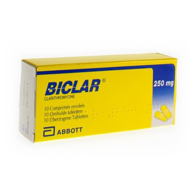 BICLAR COMP 10 X 250MG