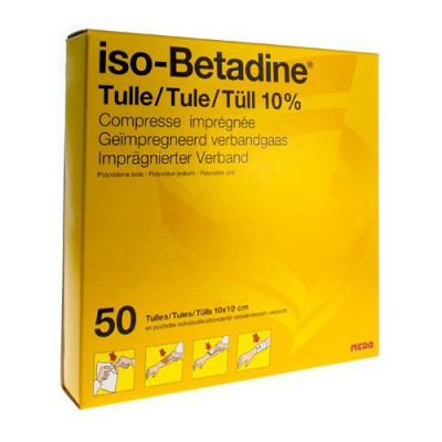 ISO BETADINE TULLES COMPR 50 10X10