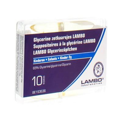 GLYCERINE LAMBO SUPPO KEGELVORM ENF 10