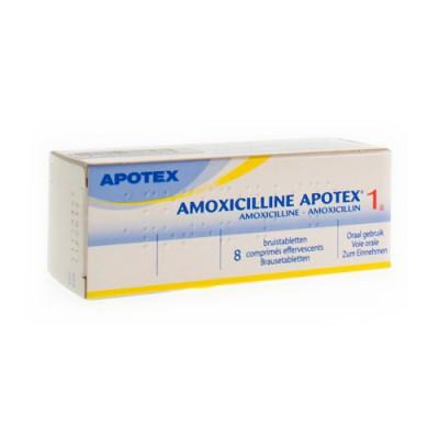 AMOXICILLINE APOTEX COMP EFF - BRUIS 8 X 1 G