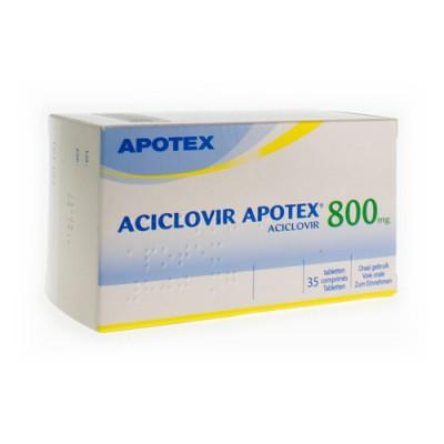 ACICLOVIR 800 APOTEX COMP SEC 35 X 800 MG