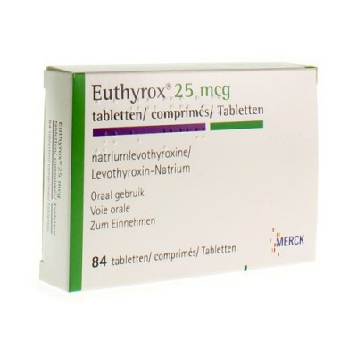 EUTHYROX COMP 84 X 0,025 MG