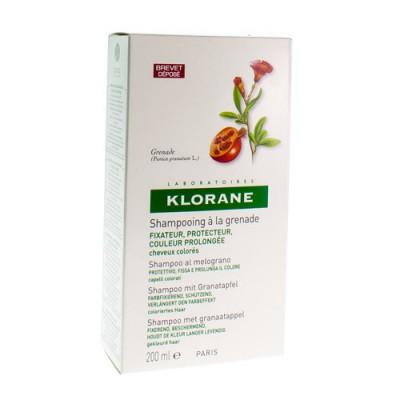 KLORANE SH GRANAATAPPEL 200ML