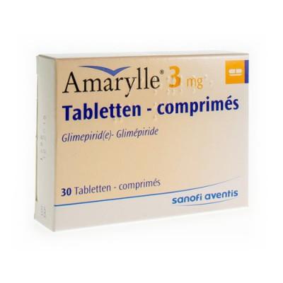 AMARYLLE TABL 30 X 3 MG
