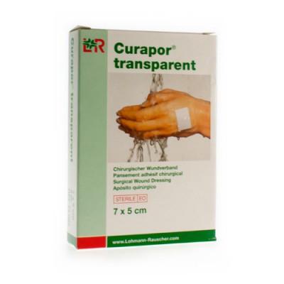 CURAPOR TRANSPARANT STERIEL 7CMX 5CM 5 13099