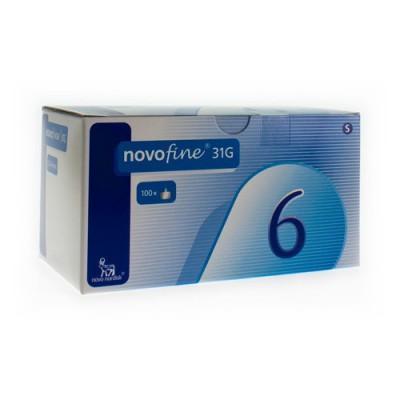 NOVOFINE STER NAALD 6MM/31G 100 ST