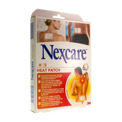 NEXCARE 3M HEAT PATCH 13CMX9,5CM 5 N2005P