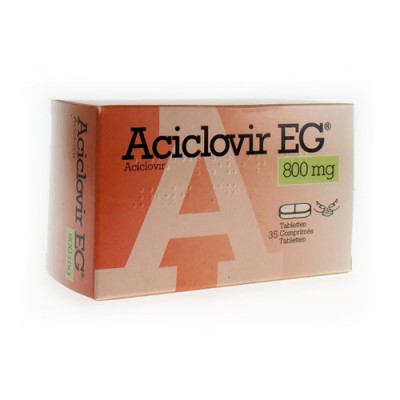 ACICLOVIR EG 800 COMP 35 X 800 MG
