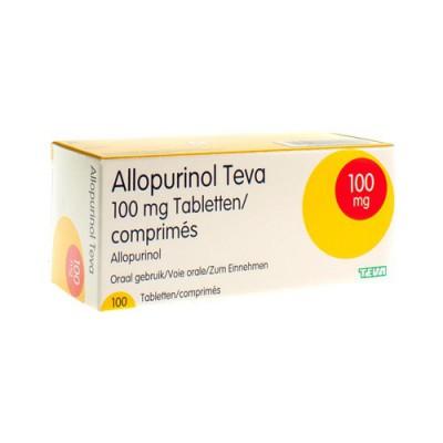 ALLOPURINOL TEVA 100 MG TABL 100