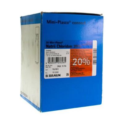 MINI PLASCO NACL 20 % 20 X 20 ML