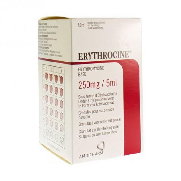 ERYTHROCINE SIR 1 X 80 ML 250MG/5ML | Apotheek Kerre